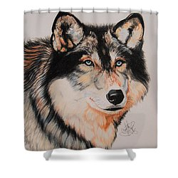 Mexican Wolf Hybrid Shower Curtain