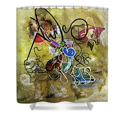 Mexicans Vs Jews Shower Curtain by Antonio Ortiz