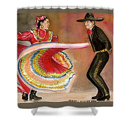 Mexico City Ballet Folklorico Shower Curtain