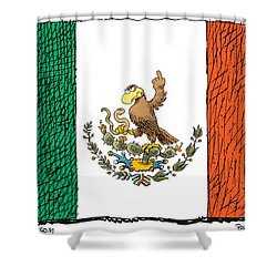 Mexico Flips Bird Shower Curtain