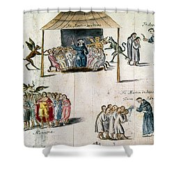 Mexico: Missionaries Shower Curtain by Granger
