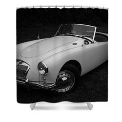 Mg - Morris Garages Shower Curtain by Juergen Weiss