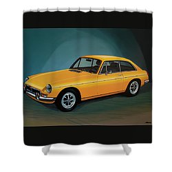 Mgb Gt 1966 Painting  Shower Curtain by Paul Meijering