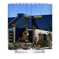 Mgm Grand Hotel Casino Shower Curtain by Mariola Bitner