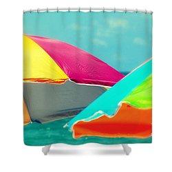 Miami Beach 1 Shower Curtain by France Laliberte