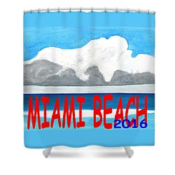 Miami Beach 2016 Shower Curtain by Dick Sauer