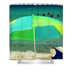 Miami Beach 3 Shower Curtain by France Laliberte