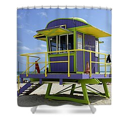 Miami Beach Shower Curtain by Bob Christopher