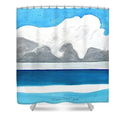 Miami Beach, Florida Shower Curtain by Dick Sauer