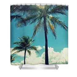 Miami Beach Shower Curtain by France Laliberte
