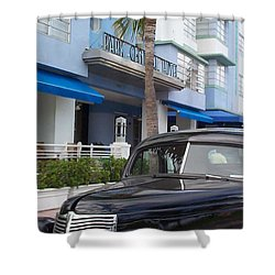 Shower Curtain featuring the photograph Miami Beach by Mary-Lee Sanders
