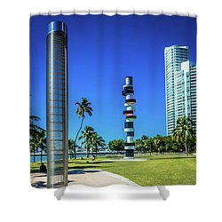 Miami Beach Series 4497 Shower Curtain