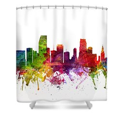 Miami Cityscape 06 Shower Curtain by Aged Pixel