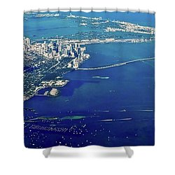 Miami Coastal Aerial Shower Curtain