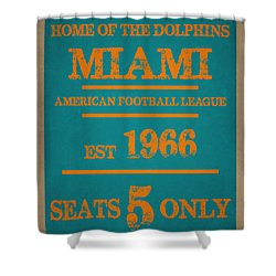 Miami Dolphins Sign Shower Curtain