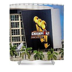 Miami Heat Nba Champions 2006-2012-20133 Shower Curtain