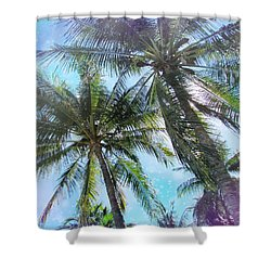 Miami Palm Trees Shower Curtain by France Laliberte