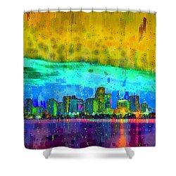 Miami Skyline 107 - Pa Shower Curtain