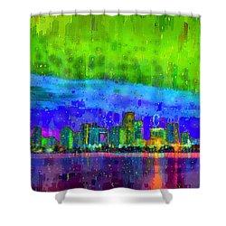 Miami Skyline 112 - Da Shower Curtain