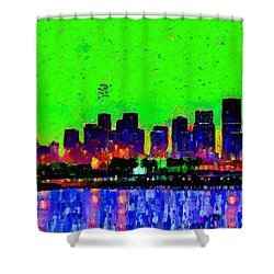 Miami Skyline 27 - Da Shower Curtain