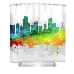 Miami Skyline Mmr-usflmi05 Shower Curtain by Aged Pixel