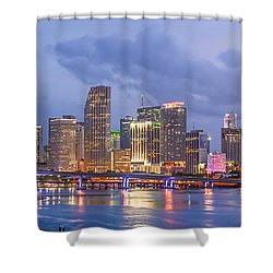 Miami Skyline Shower Curtain