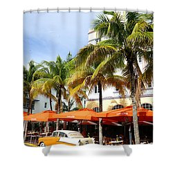 Miami South Beach Ocean Drive 8 Shower Curtain by Nina Prommer