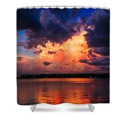 Miami Storm Shower Curtain by Jonathan Gewirtz