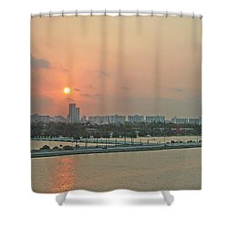 Miami Sunrise Shower Curtain