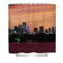 Miami Sunset Panorama Shower Curtain