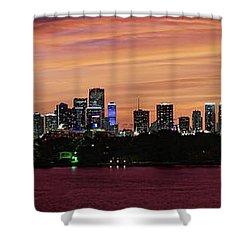 Miami Sunset Panorama Shower Curtain