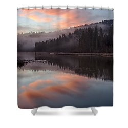 Mica Mist Reflections Shower Curtain