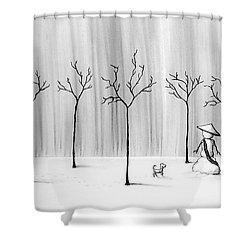 Micah Monk 10 - Snowmonk Shower Curtain