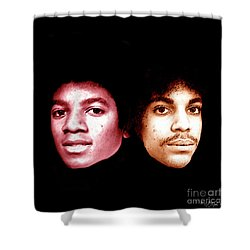 Michael And Prince In One Shower Curtain