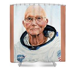 Michael Collins Shower Curtain by Simon Kregar
