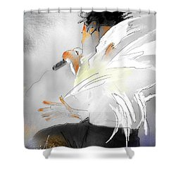Michael Jackson 08 Shower Curtain by Miki De Goodaboom