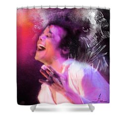 Michael Jackson 11 Shower Curtain by Miki De Goodaboom