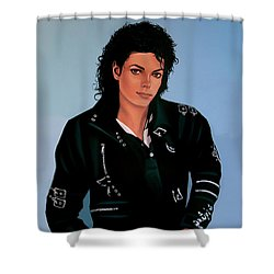 Michael Jackson Bad Shower Curtain by Paul Meijering