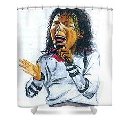 Michael Jackson Shower Curtain by Emmanuel Baliyanga