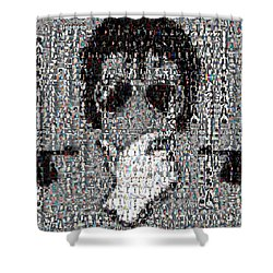 Michael Jackson Glove Montage Shower Curtain by Paul Van Scott