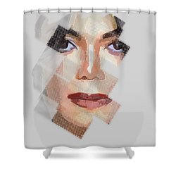 Michael Jackson T Shirt Edition  Shower Curtain