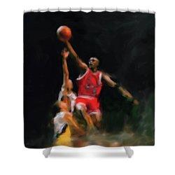 Michael Jordan 548 1 Shower Curtain by Mawra Tahreem
