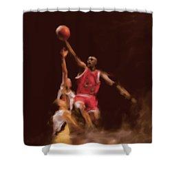 Michael Jordan 548 2 Shower Curtain by Mawra Tahreem