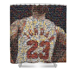 Michael Jordan Card Mosaic 2 Shower Curtain
