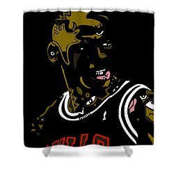 Michael Jordan Shower Curtain by Kamoni Khem
