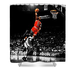 Michael Jordan Suspended In Air Shower Curtain
