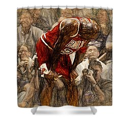 Michael Jordan The Flu Game Shower Curtain