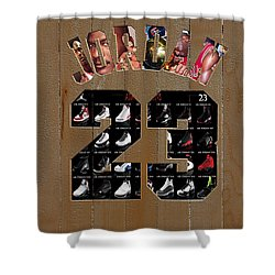 58f3da52d749 Michael Jordan Wood Art 2m Shower Curtain
