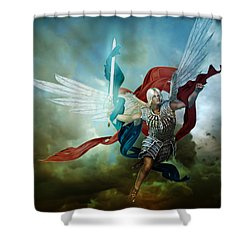 Michael Shower Curtain by Mary Hood