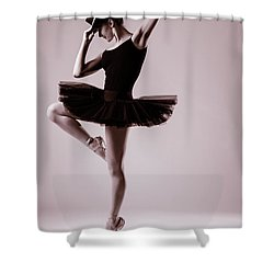 Michael On Pointe 2 Shower Curtain